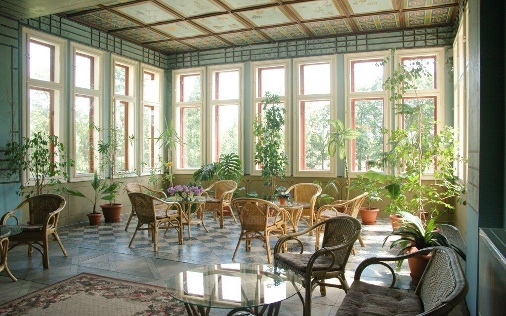 Zimní zahrada hotelu nabízí příjemný relax