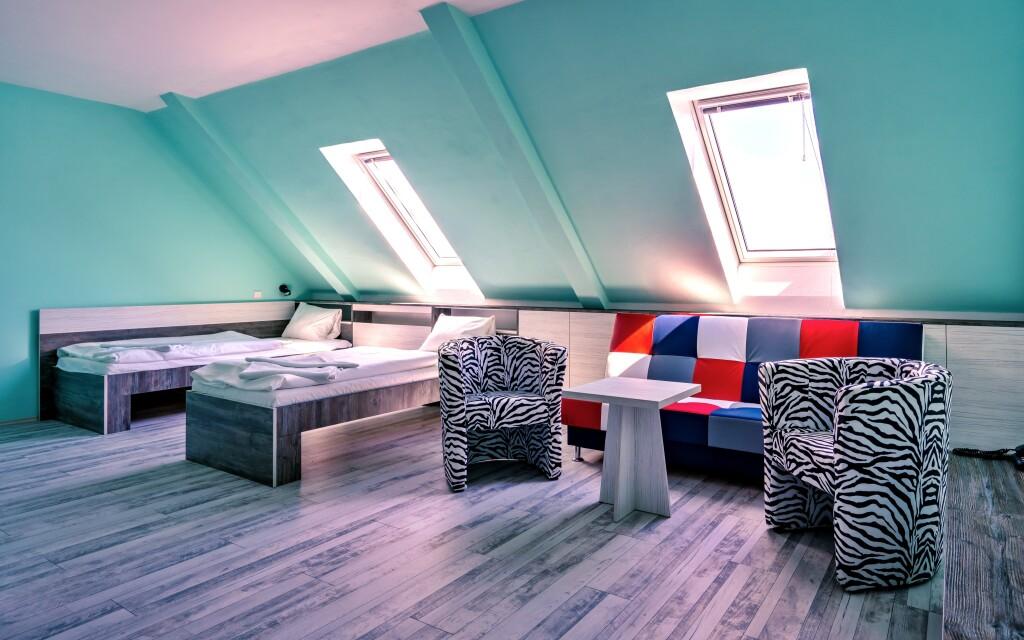 Izby sú pohodlne zariadené, Hotel N, Znojmo
