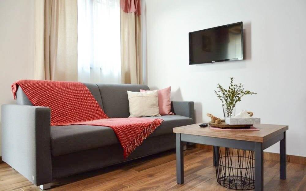 Obývací část, Apartmány POCO LOCO