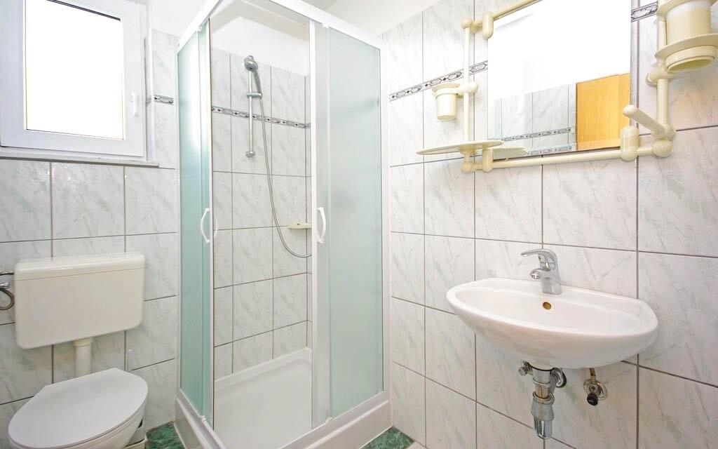Kúpeľňa v apartmáne, Apartmány Ivan v Chorvátsku