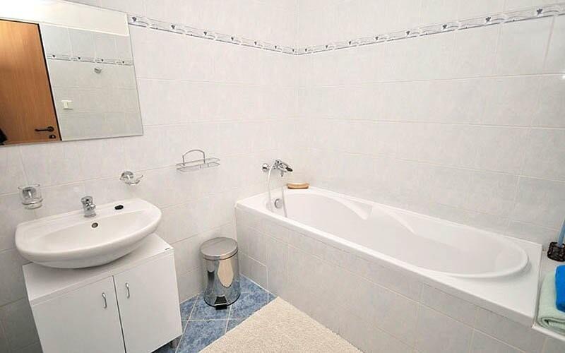 Součástí apartmánů je samostatná koupelna