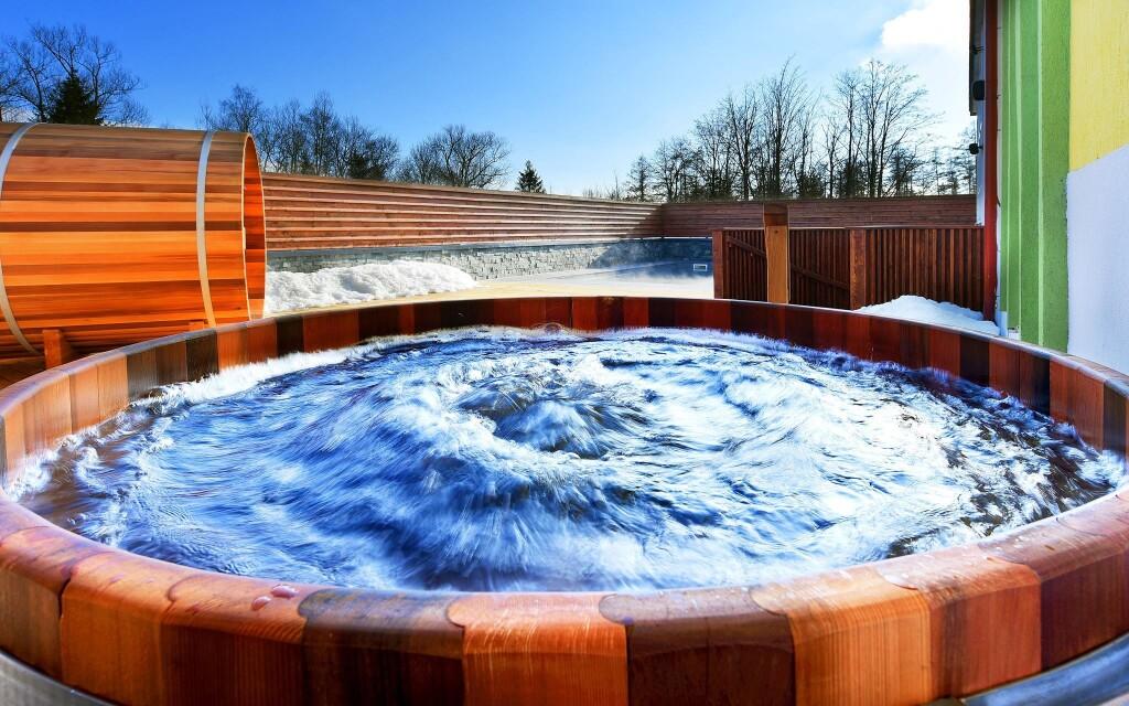 Vonkajšia sauna vo wellness Hotela Lesana *** Vysoké Tatry