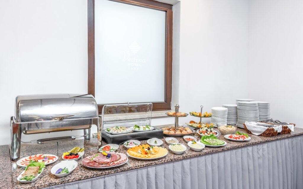 Bohaté raňajky, Hotel Vestina ***, Wisła, Poľsko