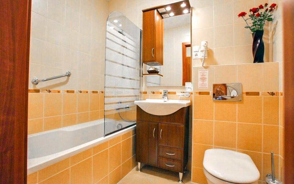 Každý pokoj má vlastnú koupelnu