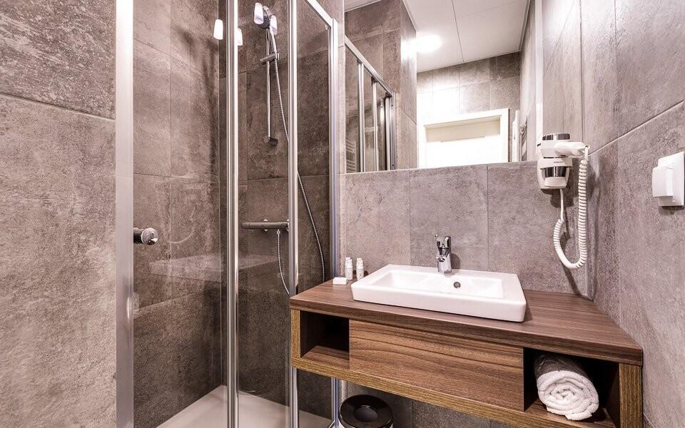 Moderní vybavení najdete také v koupelně
