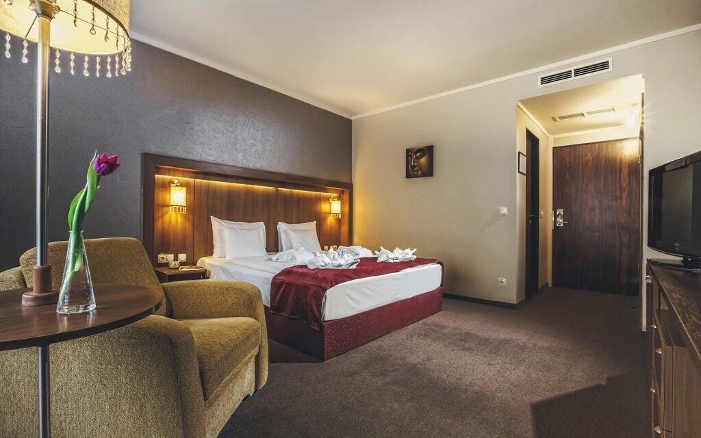 Standardní pokoje jsou krásně zařízené