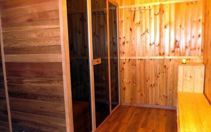 V areálu najdete i saunu