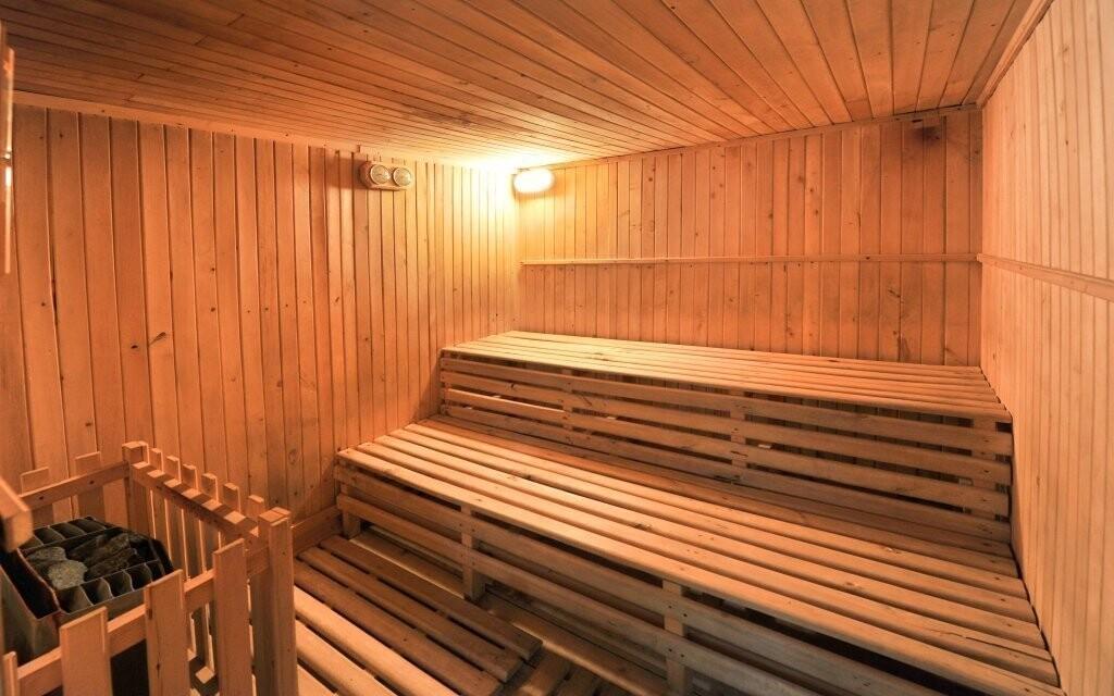V sauně si můžete skvěle odpočinout