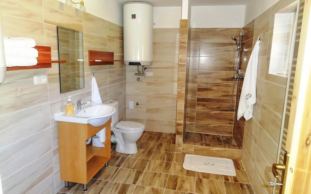 Samozřejmostí je koupelna se sprchovým koutem