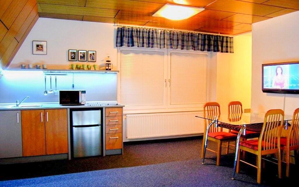 Kuchyňka je moderně vybavená