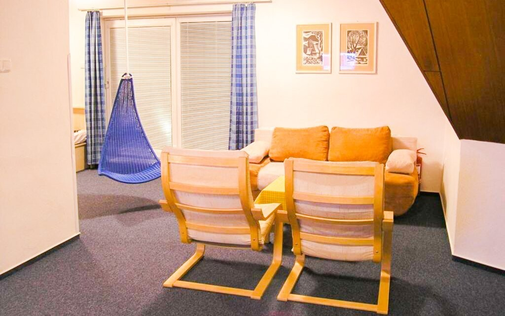 V apartmánu Standard najdete i posezení