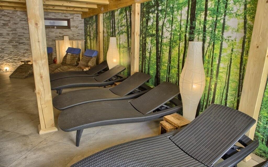 Wellness má relaxační zónu