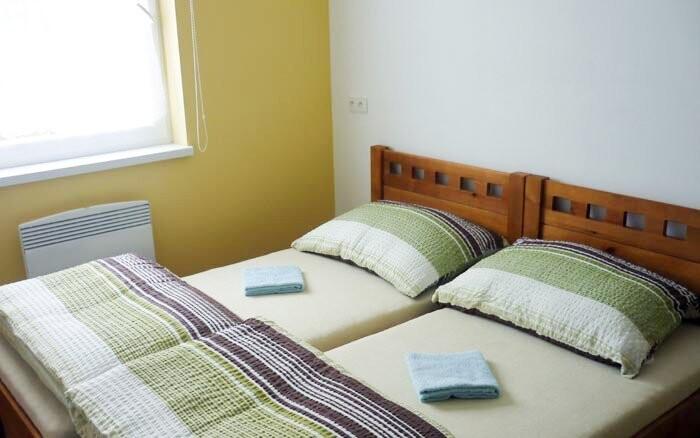 Pokoje jsou čisté a útulné
