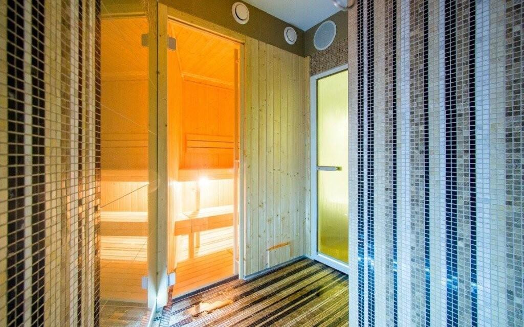 Najdete tu hned dvě sauny