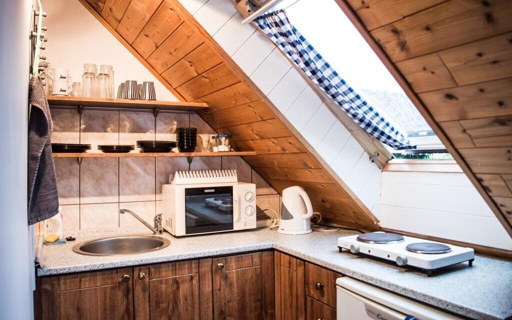 V apartmánech a studiích si můžete uvařit v kuchyňce