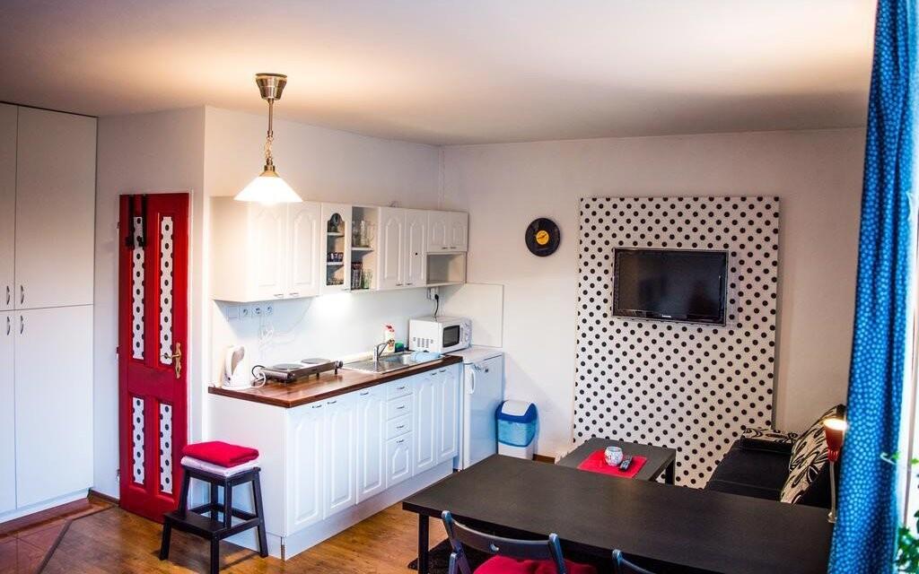 Apartmány a studia jsou vybavené kuchyňkou
