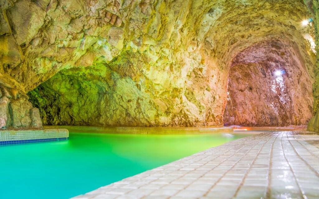 Jeskynní lázně Miskolc Tapolca Maďarsko