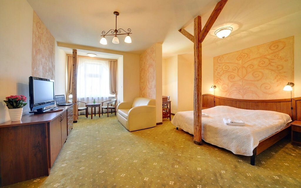 Pokoje jsou pohodlné a plně vybavené