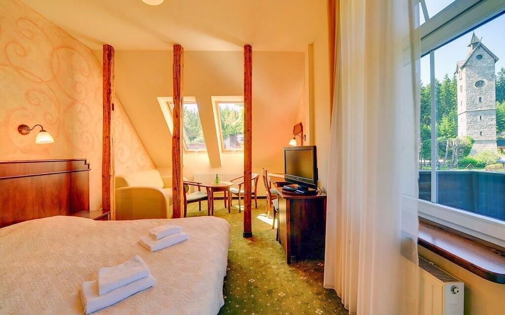 Pokoje Standard Plus jsou pohodlné a plně vybavené