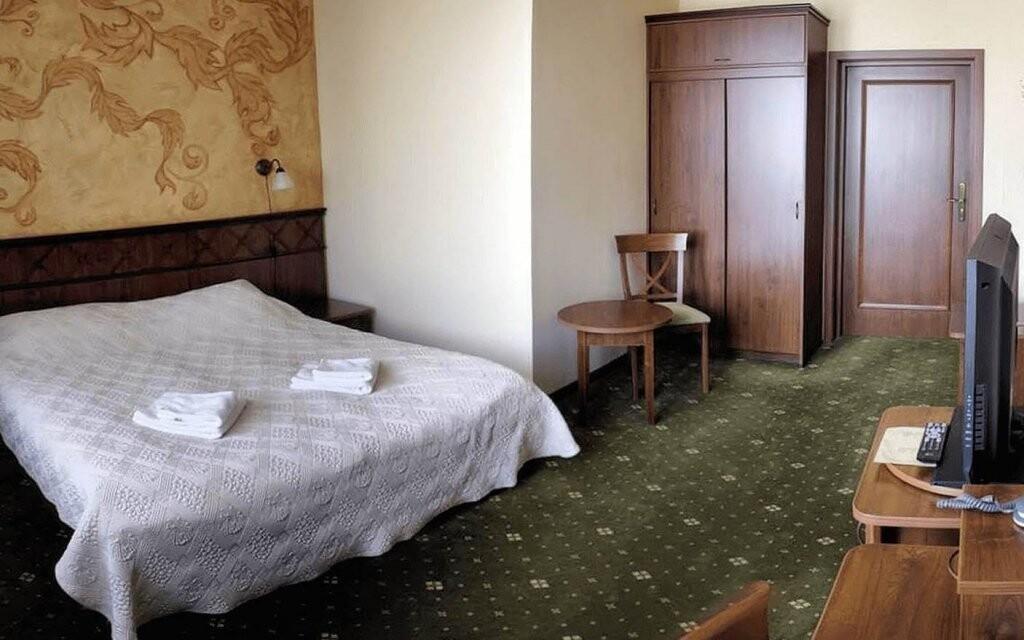 Pokoje Standard jsou pohodlné a plně vybavené