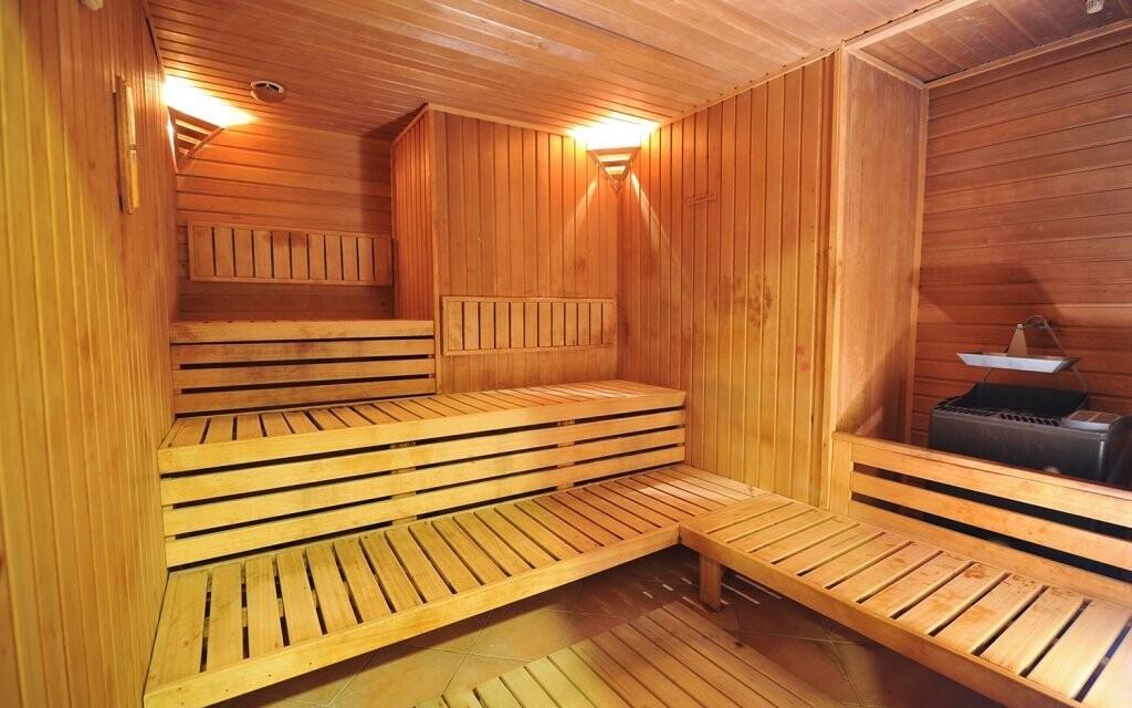 Nechybí samozřejmě ani finská sauna