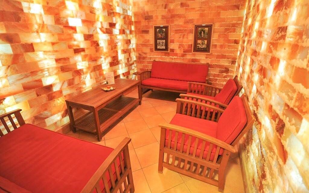Relaxační místnost navodí intimní atmosféru
