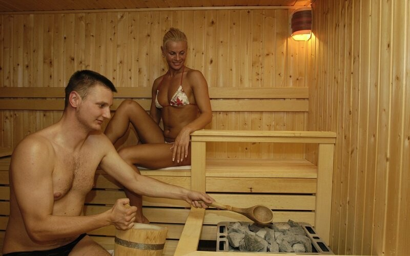 Součástí wellness ostrova jsou sauny