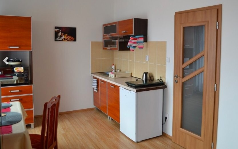 Súčasťou apartmánov je vybavená kuchynka