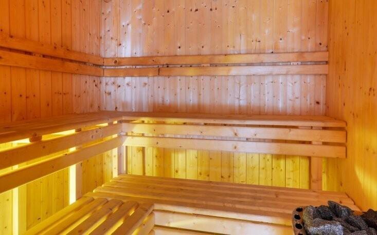 K dispozici je finská sauna i tepidárium