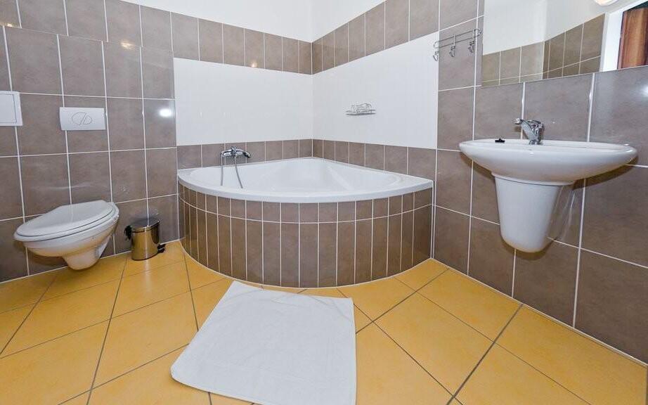 K pokoji patří i koupelna
