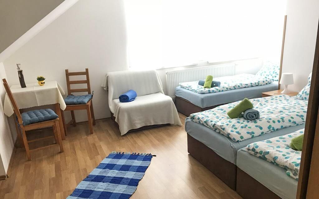 Ubytování se hodí také pro skupiny a rodiny