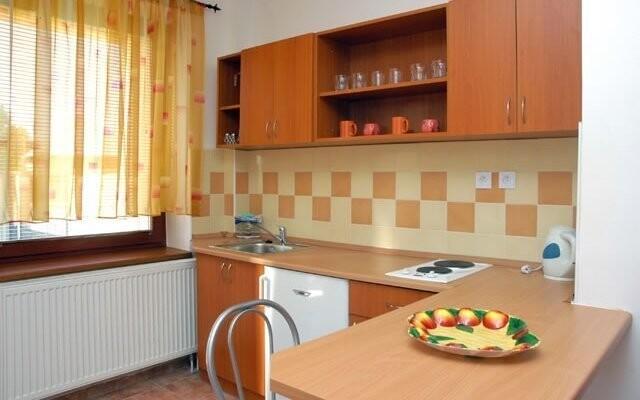 Součástí některých apartmánů je kuchyňka