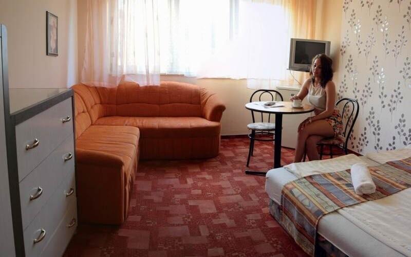 Pokoje jsou pohodlně zařízeny