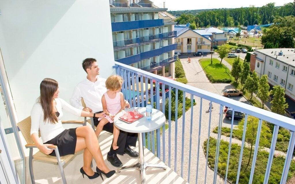 Z balkónu se kochejte skvělým výhledem