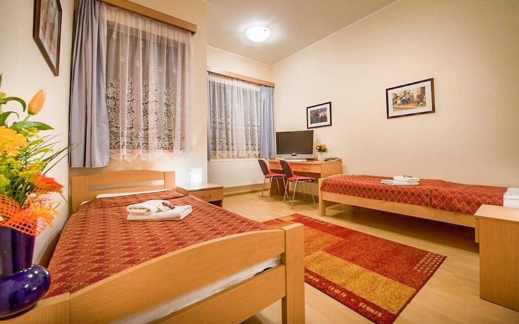 Ubytovanie je priestranné a komfortné