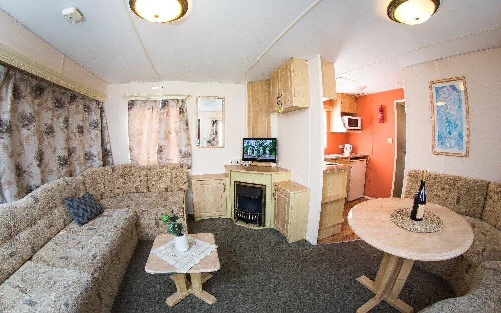 V mobilhausech je i obývací pokoj