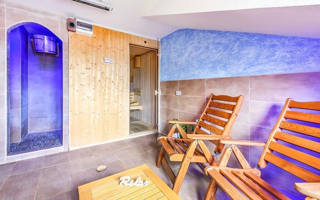 Využít můžete saunu