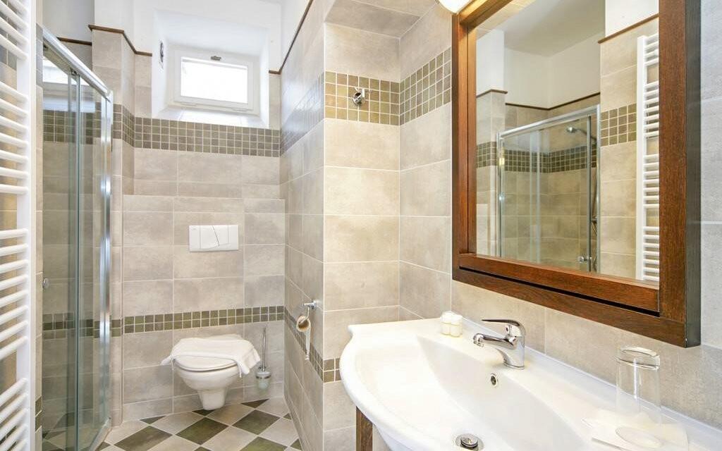 Moderní jsou nejen pokoje, ale i koupelna