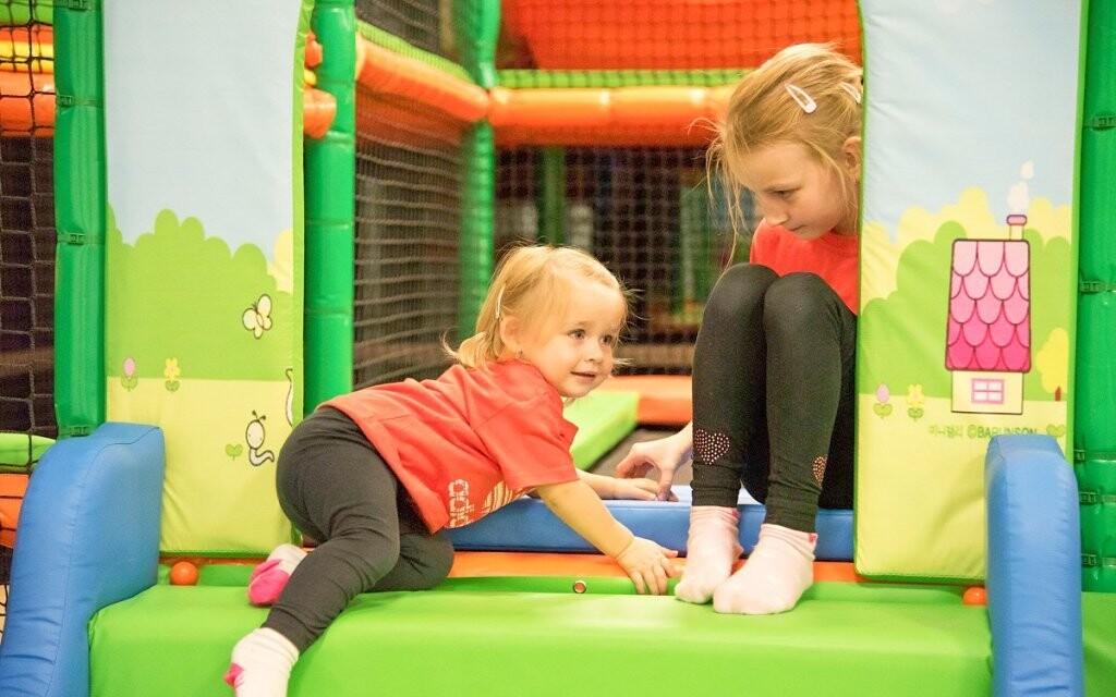 V hotelu je pro děti Kindercentrum s trampolínami
