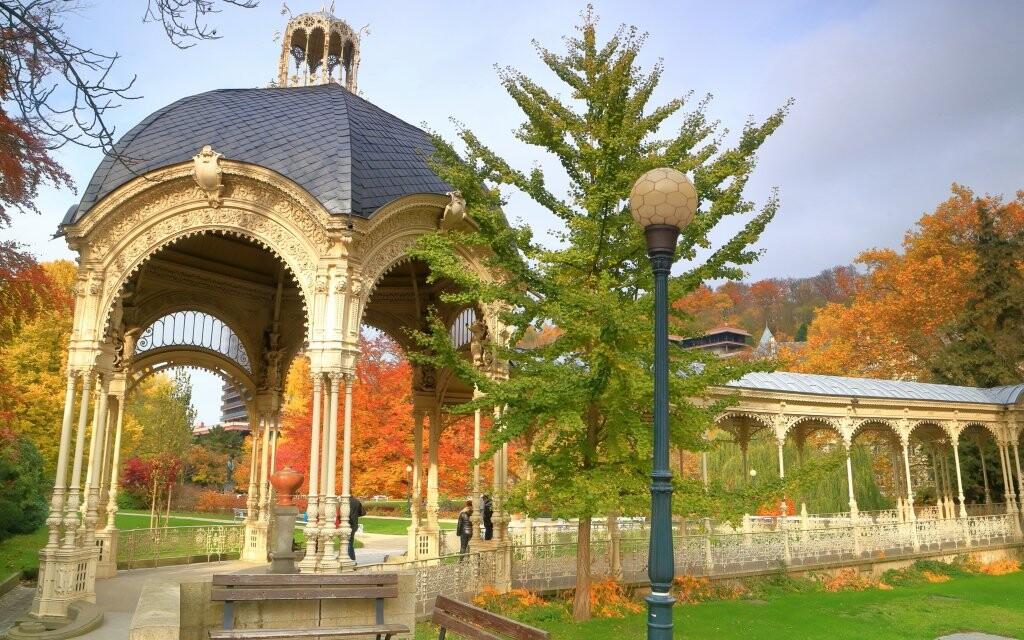 Kúpeľný park Karlovy Vary, karlovarské pramene