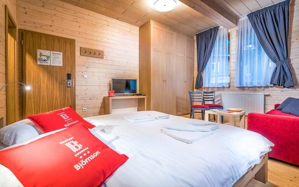 Ubytování je moderní a má jedinečnou atmosféru
