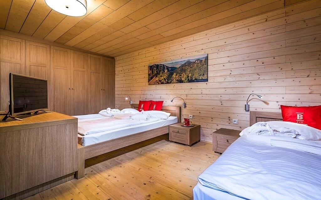 Některé pokoje mají možnost přistýlky