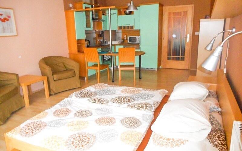 Ubytovaní budete v hezky zařízených apartmánech IRIS