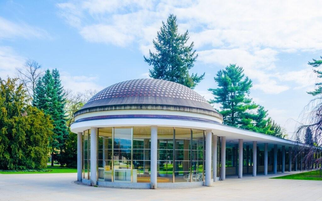 Historická lázeňská kolonáda, Poděbrady, lázeňský park
