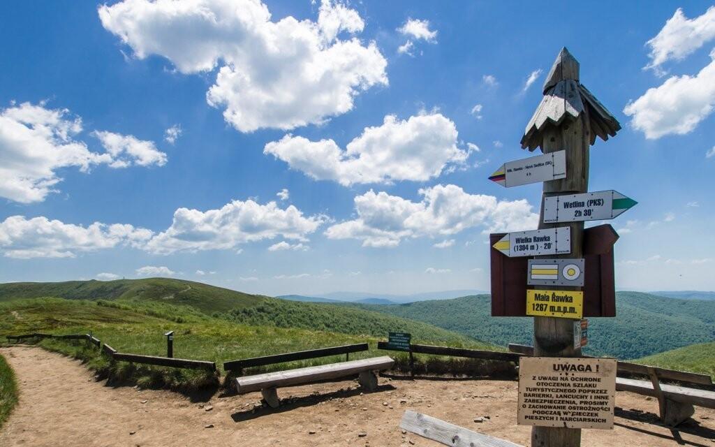 Poľské Beskydy a Moravskosliezske Beskydy pešia turistika