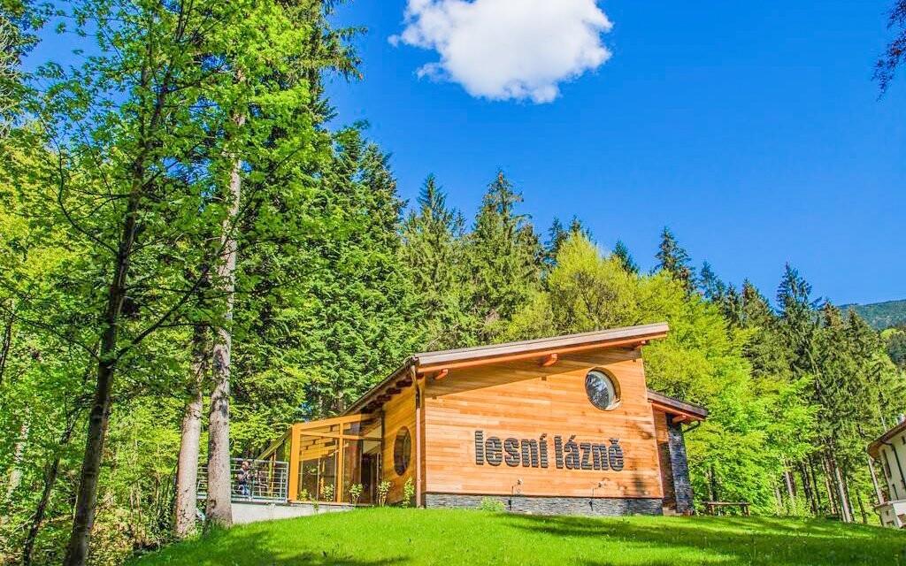 K hotelu patří také přepychové lesní lázně