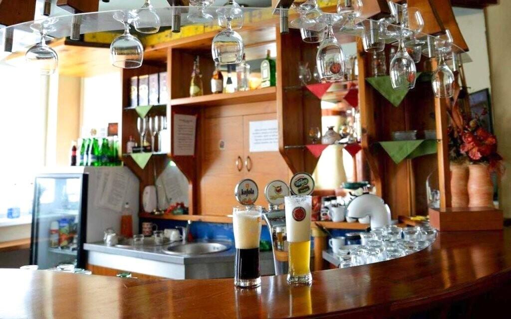 V restauraci si vychutnáte i osvěžující nápoje