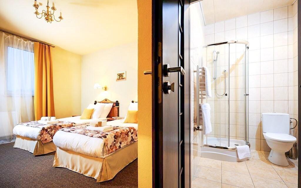Pokoje jsou moderní a elegantní