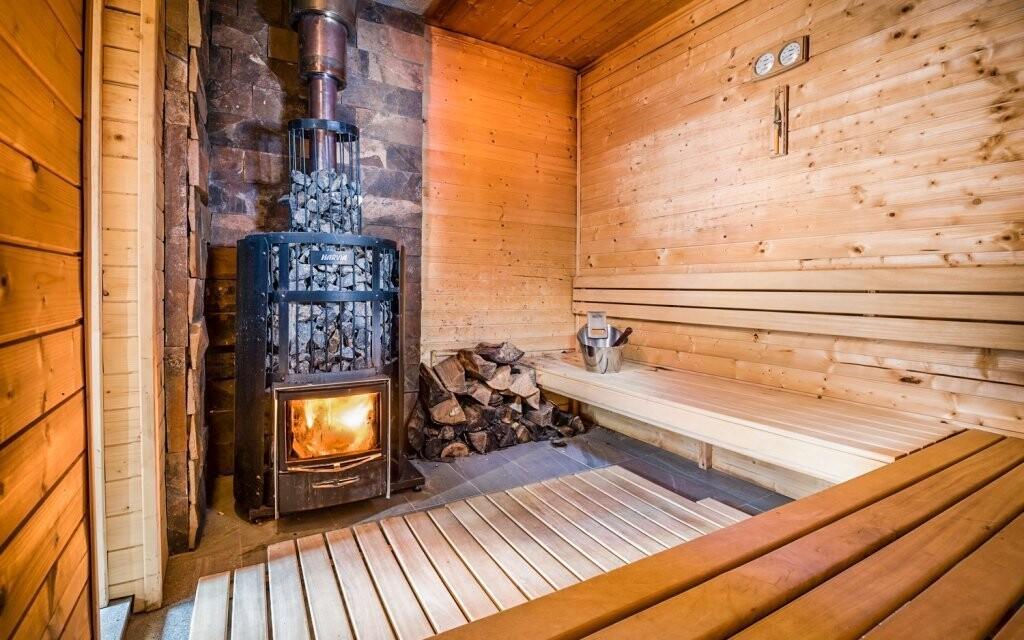 K dispozici je také finská sauna