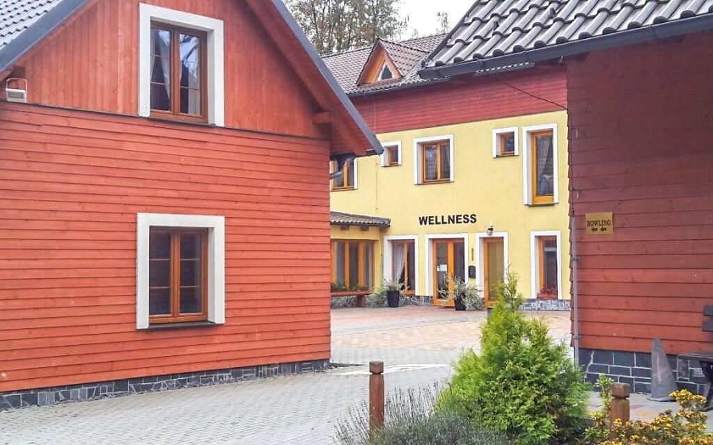 V areálu najdete také wellness zařízení
